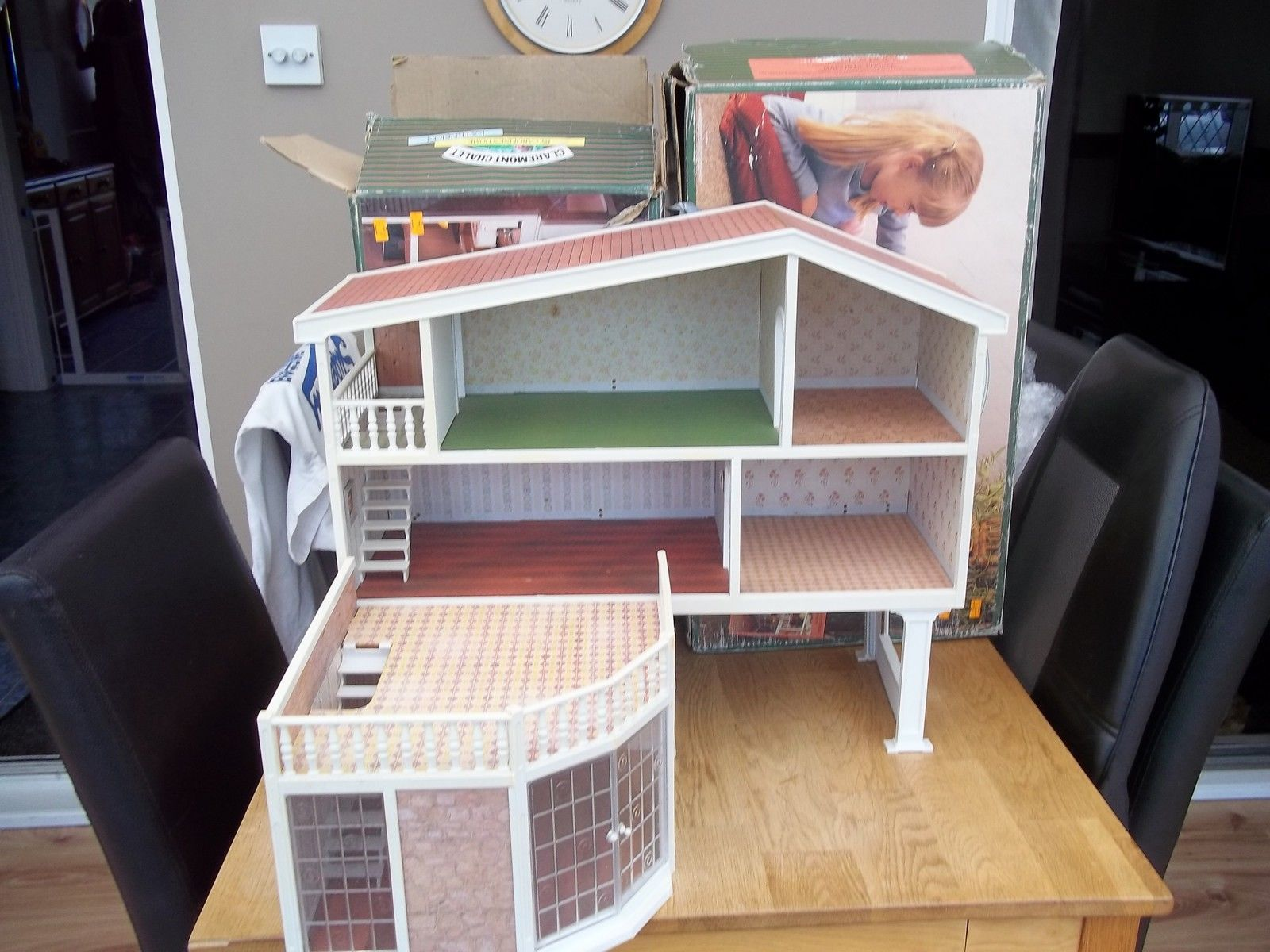 Boxed Vintage Lundby Carolineu0027s Home Claremont Chalet With Rare Extension