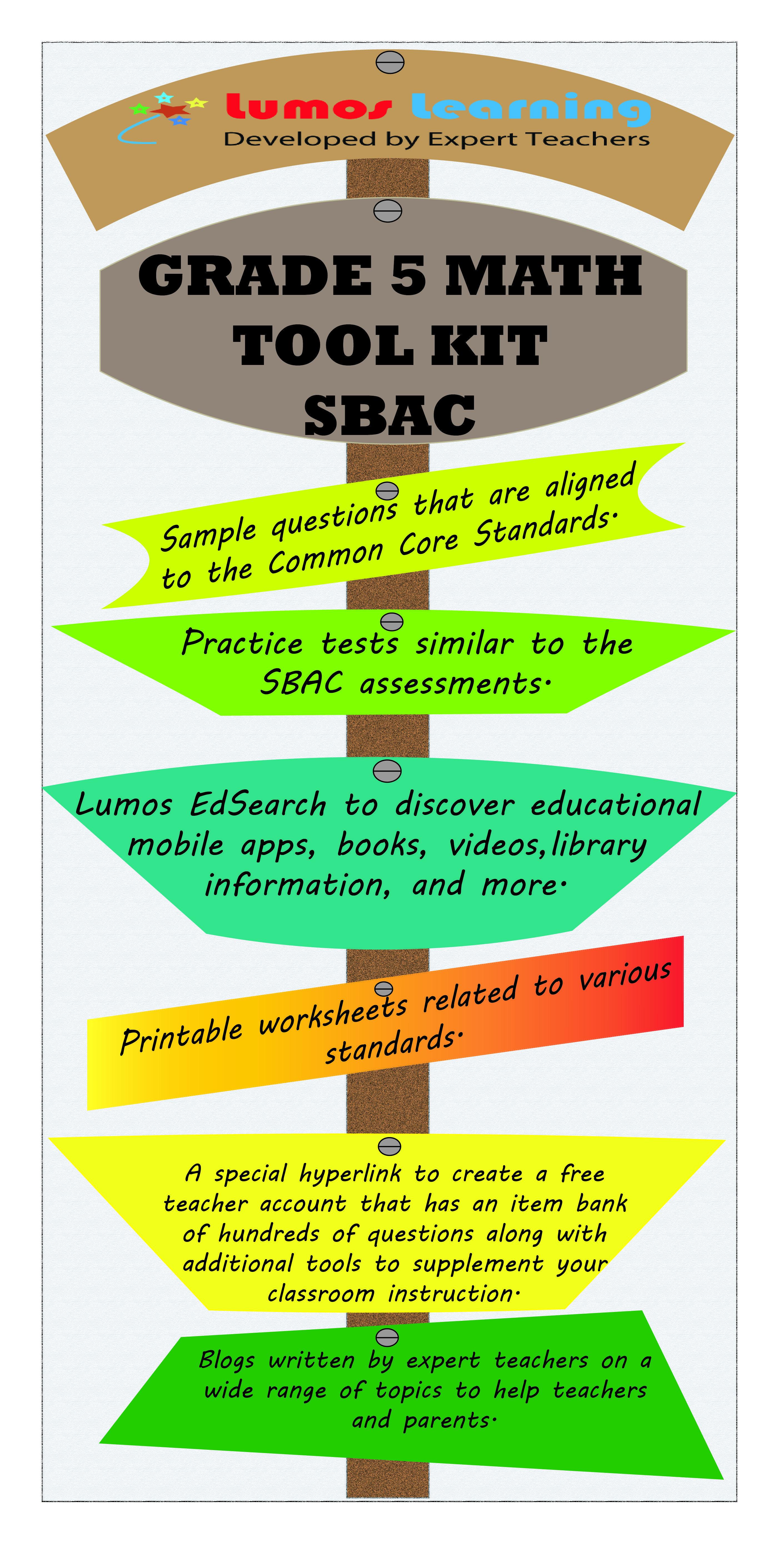 Smarter Balanced Grade 5 Math Tool Kit For Educators 5