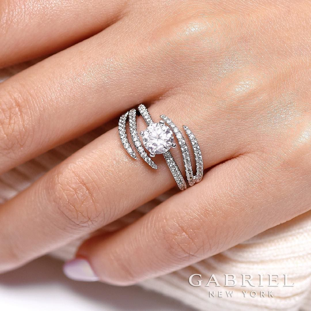 Two Rings Join Together To Create An Impressive New Look Made To Represent You Rose Gold Engagement Ring Round Diamond Engagement Rings Engagement Rings Opal
