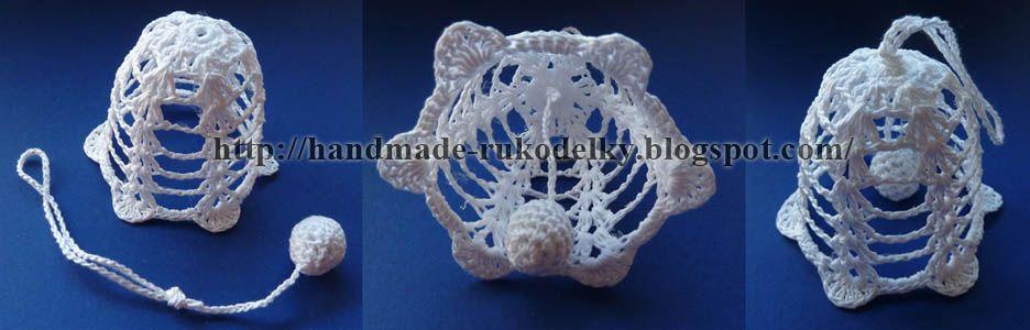 My Hand Made Stuff Moje Rukodelky Crocheted Christmas Bell