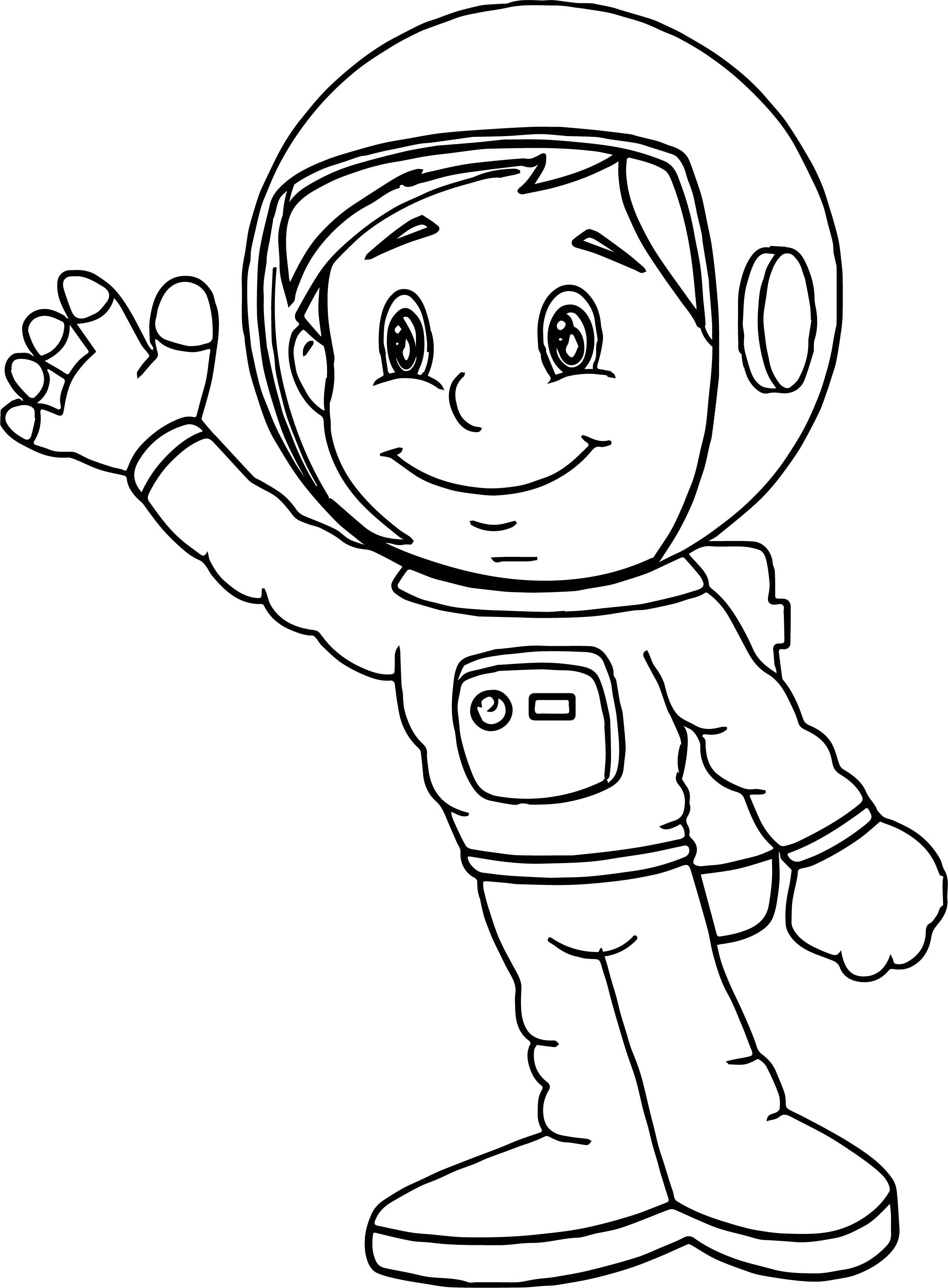 Free Astronaut Coloring Page Space Preschool Space Theme