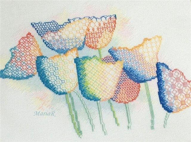 Скачать акварельные схемы вышивки