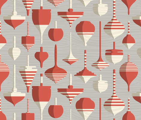 Wood Turning  fabric by mariaspeyer on Spoonflower - custom fabric