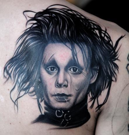 jeffree star 39 s edward scissorhands tattoo by nikko hurtado tattoos piercings pinterest. Black Bedroom Furniture Sets. Home Design Ideas