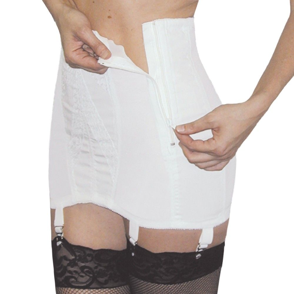 open bottom corset Rago Extra Firm Side Zip Open Bottom Girdle Style 443 | rago-443 | RP