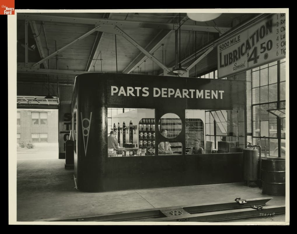 Parts Department At Russ Dawson Ford Dealership Highland Park