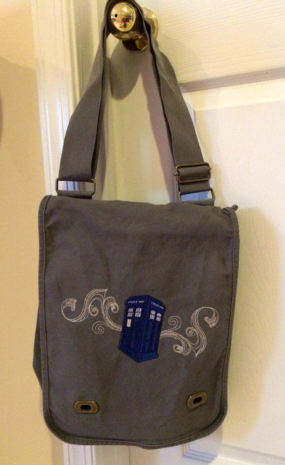 Doctor Who Tardis messenger bag rucksack by OffTheHookbyLora
