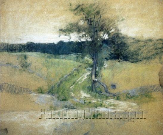 8b7d1b302abb4 Tree by a Road by John Henry Twachtman