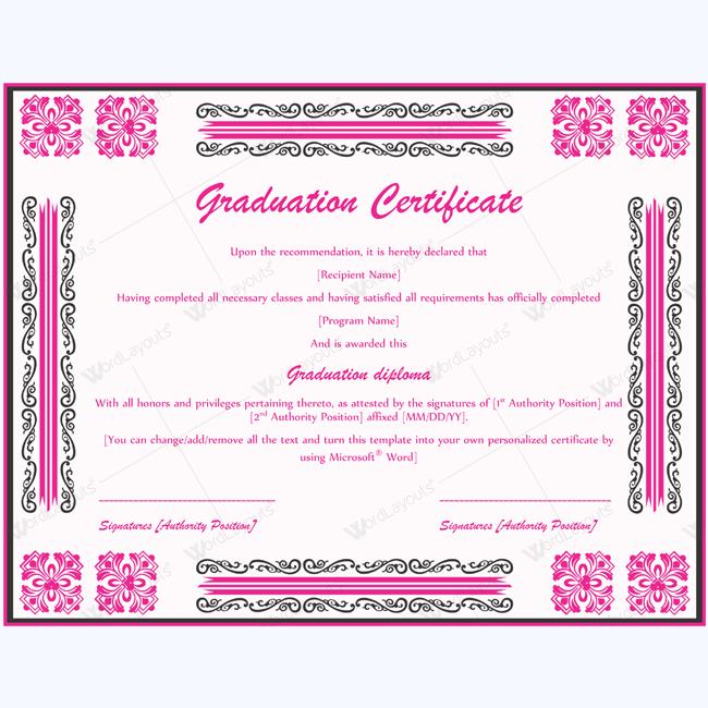 Best Graduation Certificate Certificate Schoolgraduation