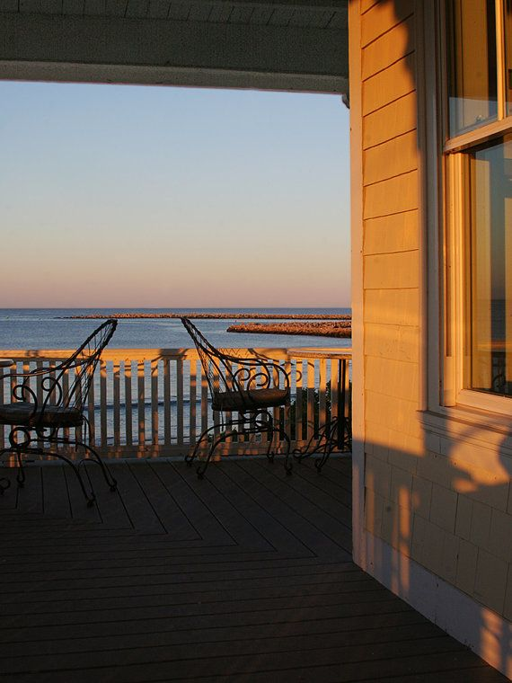Porch View at Sunset Block Island by DesignbyRita on Etsy