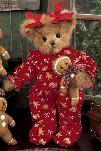 BEARY MERRY CHRISTMAS Craft Buttons Children Baby Gift Toy Novelty Teddy Bear