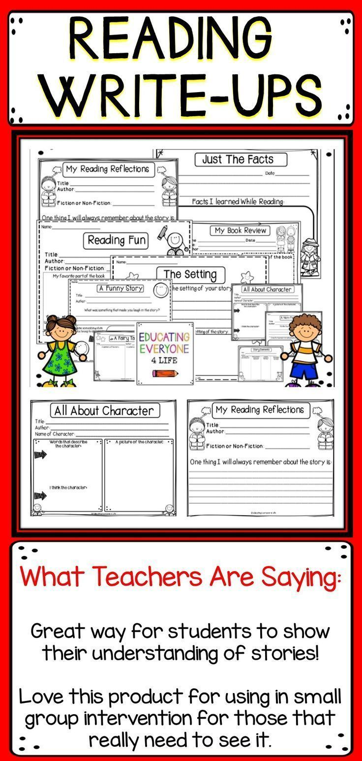 Reading Write-Ups {Graphic Organizers and Concept Maps} | Reading ...