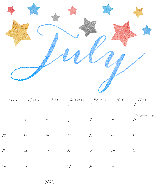 Calendar 2015 2015 Calendar Printable July Calendar