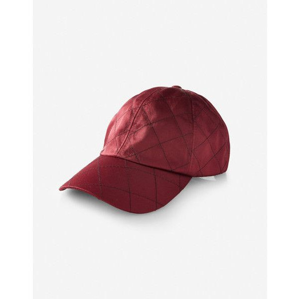 9351722d1c5 Express Quilted Satin Baseball Hat ( 25) ❤ liked on Polyvore featuring  accessories