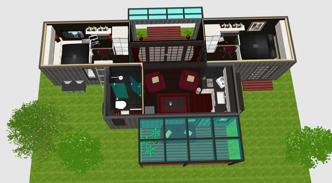 2 bedroom home from 20ft 40ft shipping containers - 40ft shipping container home ...