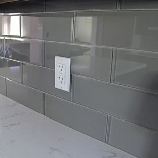 Best Grey Backsplash Kitchen Tiles Backsplash Glass Subway 400 x 300