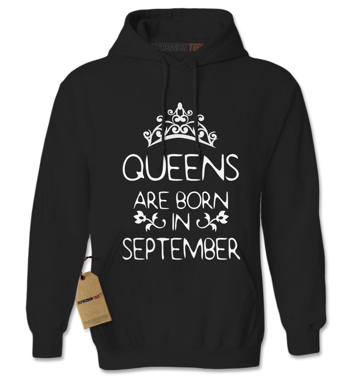 Queens Are Born In September Adult Hoodie Sweatshirt