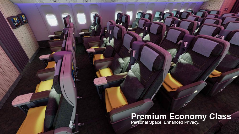 Enjoy The Union Of Luxury And Economy On China Airlines Premium Economy Class China Airlines China Southern Airlines Aircraft Interiors
