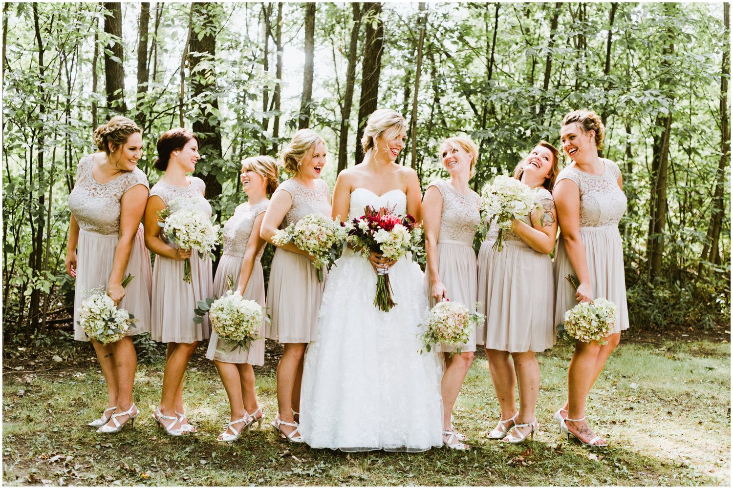 Davids bridal bridesmaids in short lace and mesh bridesmaid davids bridal bridesmaids in short lace and mesh bridesmaid dresses by davids bridal in biscotti ombrellifo Images