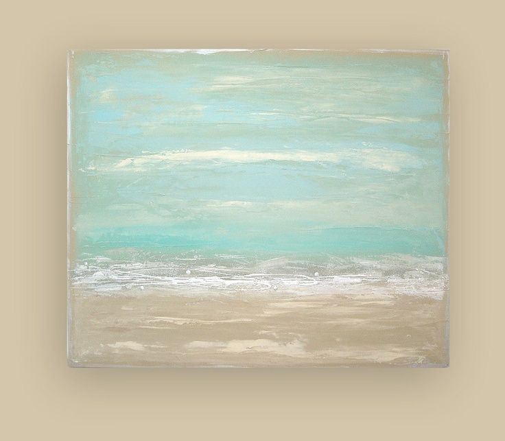 Beach Seascape Original Art Abstract Acrylic By Orabirenbaumart