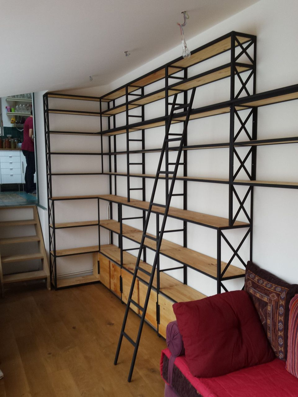 Bibliotheques De Style Industriel Style Industriel Bibliotheque Industrielle Mobilier De Salon