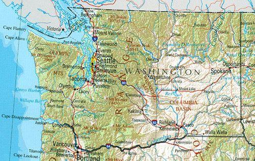Map Of Washington State Washington State Map Washington Map Washington State Travel