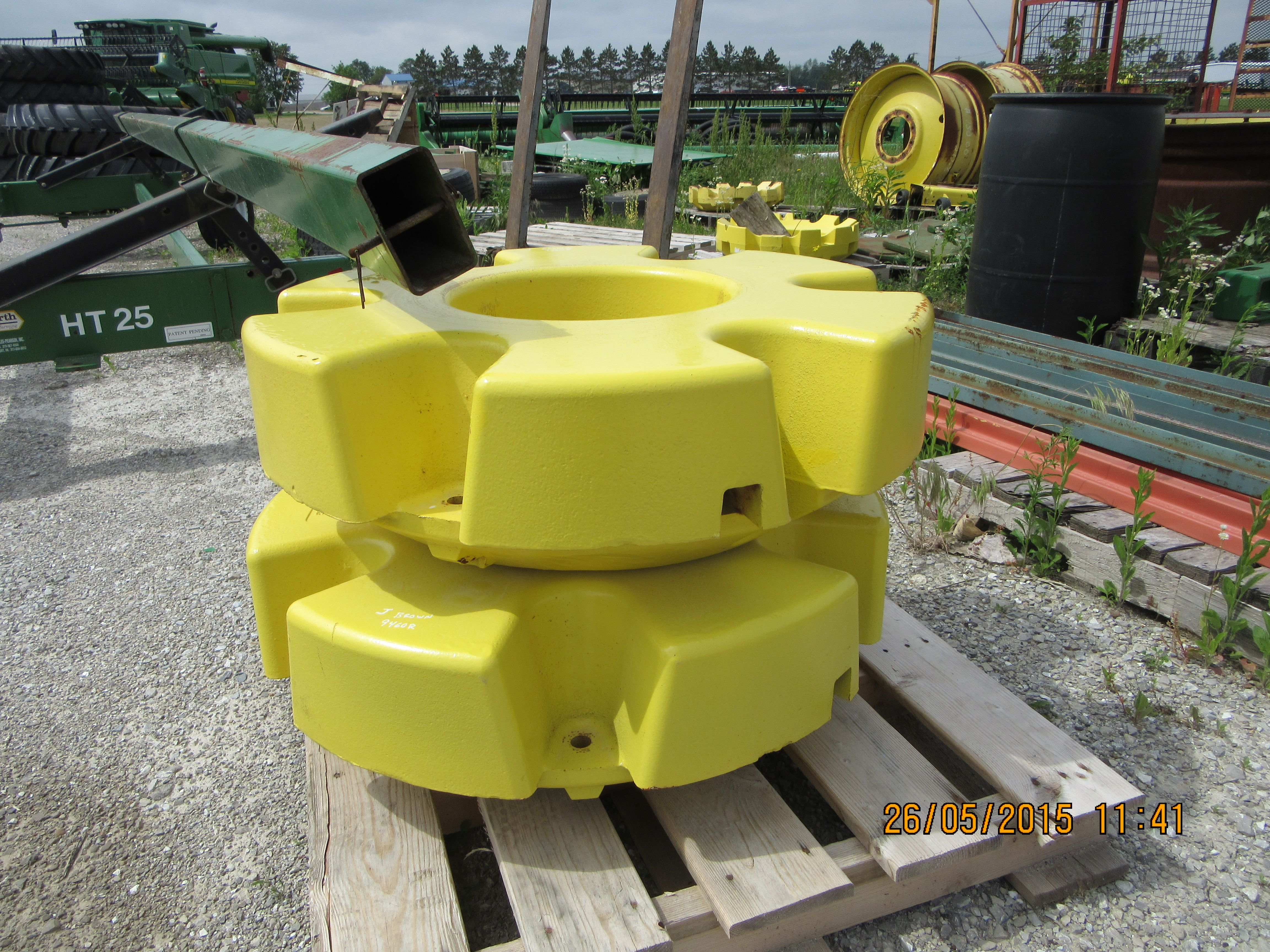 John Deere Tractor Counterweights : These are new john deere r tractor weights