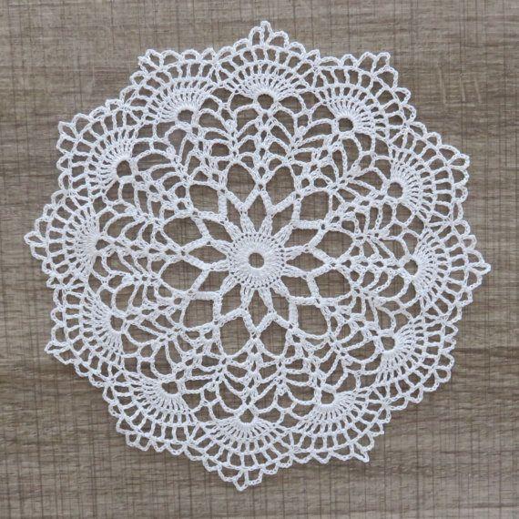 NAPPERON BLANC en DENTELLE de Crochet env. 19/20 cm Cora