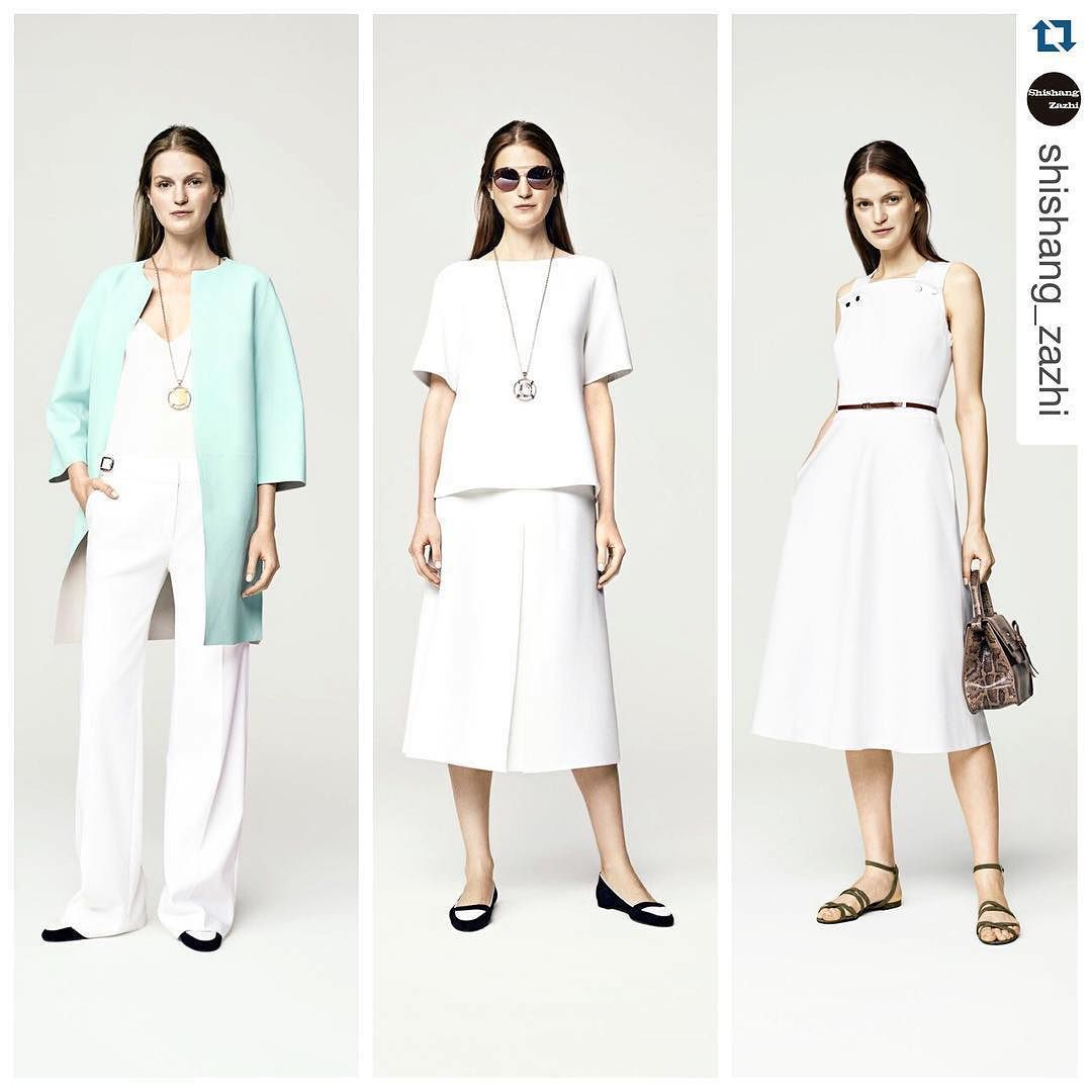 White for #ss16 #escada @escadaofficial #dress #blanco #ny #nyfw #fashion #style #luxury #runway #pasarela #woman