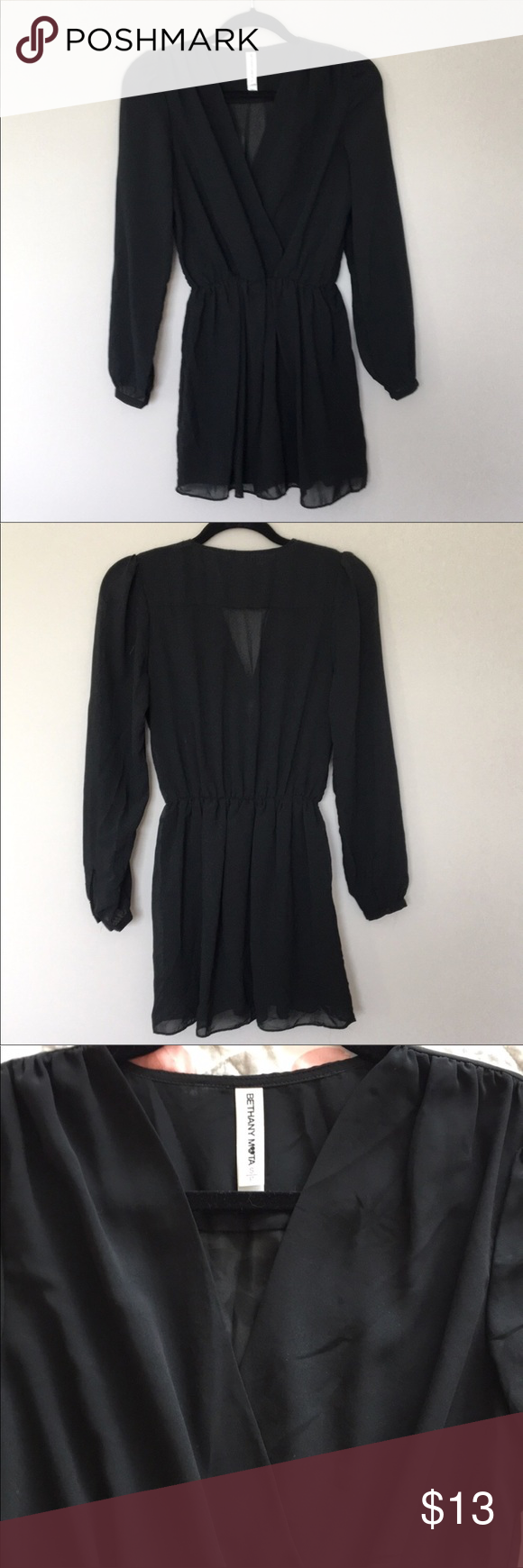 Long sleeve little black dress pinterest
