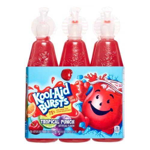 Kool Aid Bursts Tropical Punch 1 12 Oz 6 Ct Tropical Punch Kool Aid Kid Drinks
