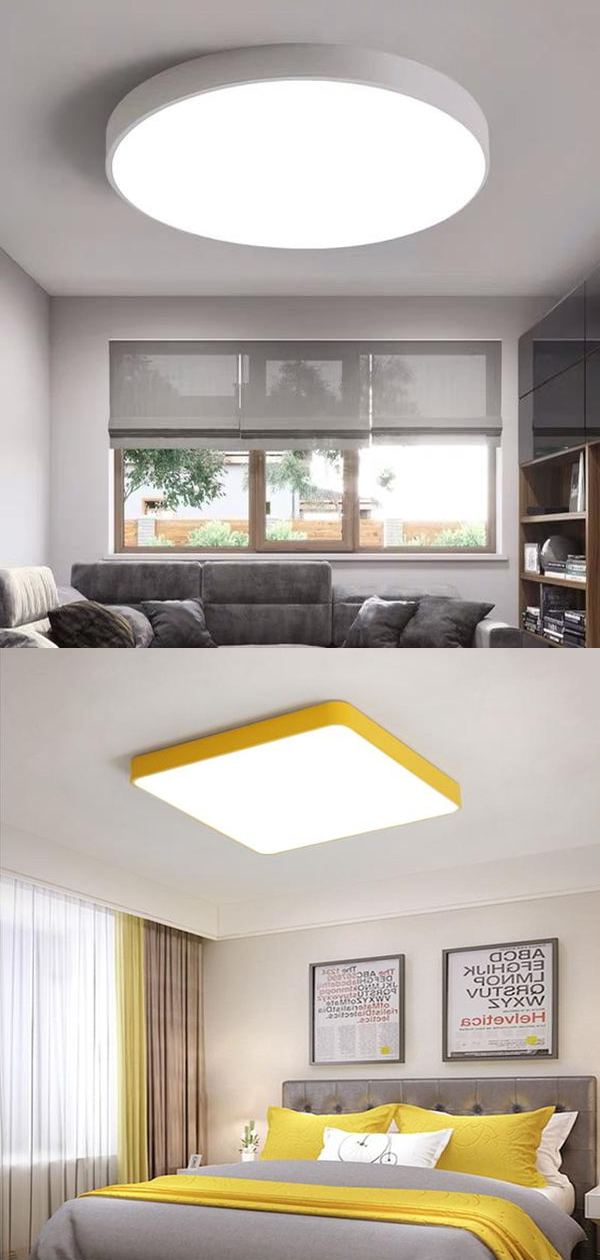 Modern Nordic Led Ceiling Lights Living Room Bedroom Round Corridor Kitchen Lamp Ultra Thin Kids Room Macarons Remote Control In 2020 Living Room Bedroom Ceiling Lights Led Ceiling Lights