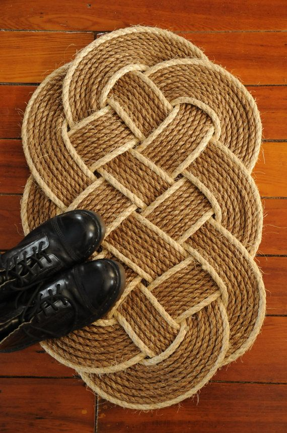 Nautical Front Door Rug Rope Mat Ocean Plait Por Oyknot