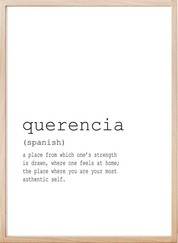 Definition Print Art, Definition Quotes, Home Printable, Large Printable, Querencia Definition, Family Wall Art