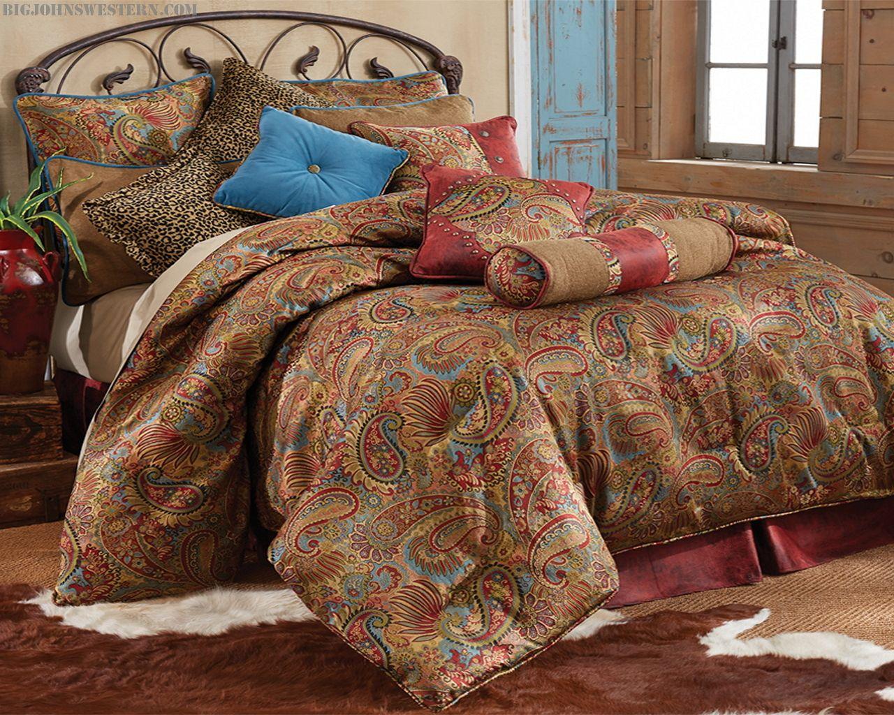 Best Paisley Print Bedding Burgundy Bedding Big John S 640 x 480