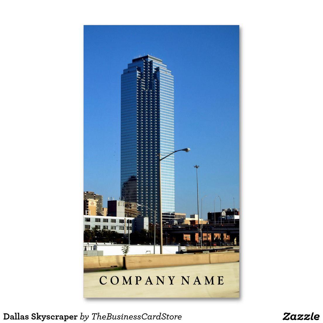 dallas skyscraper standard business card - Business Cards Dallas