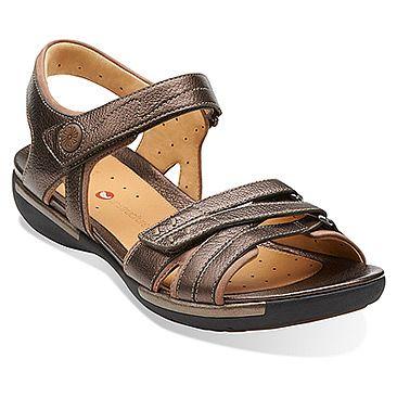 Womens Sandals Clarks Un Vasha Bronze Leather