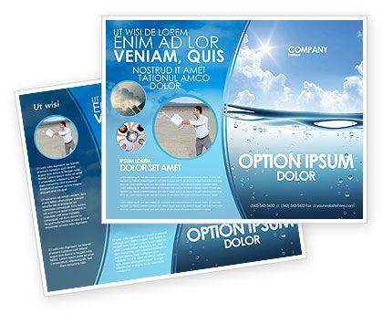 Double Sided Water Wave Brochure Template HttpWww