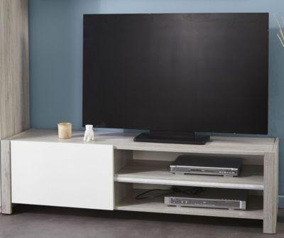 TV-Unterteil Portofino grey/ weiss hochglanz Jetzt bestellen unter