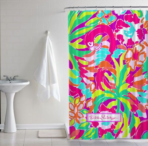 Lilly Pulitzer Lulu Cute New Hot Custom Print Shower Curtain Size X Waterproof Polyester Fabric With Latest Design