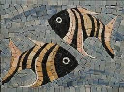 Resultado de imagen para figuras de mosaicos en peces for Dibujos para mosaiquismo