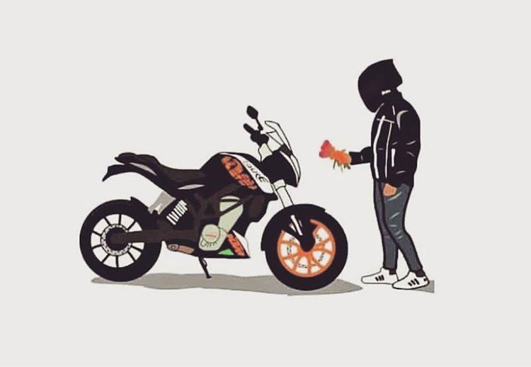 Fotografie Instagram De Sundilla 6 Iulie 2019 La 12 45 Cartoon Wallpaper Hd Bike Sketch Bike Illustration Black duke bike hd wallpaper