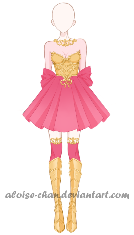 Open Valentines Day Armour Adoptable Anime Dress Dress Sketches Costume Design