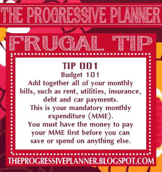 The Progressive Planner: Frugal Friday