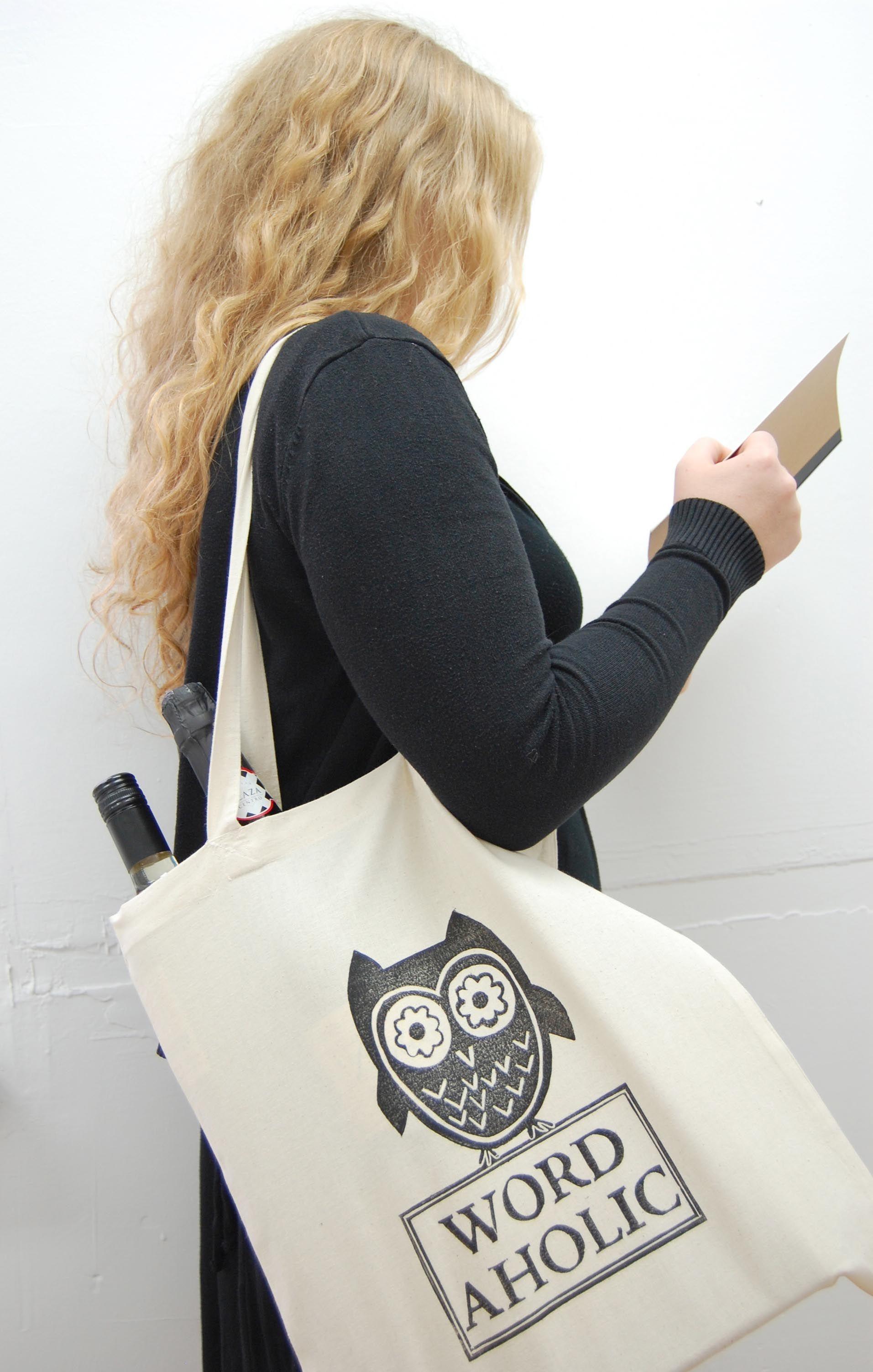 Wordtree | Wordaholic cotton shopping bag | Printed by Wordtree | The Wordtree Emporium