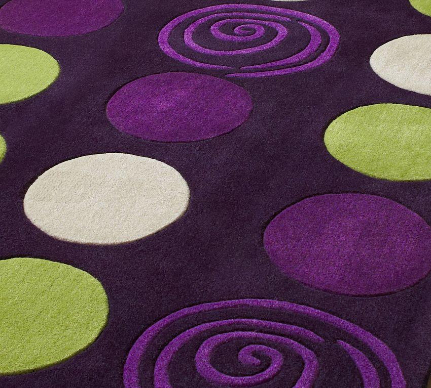 Purple And Green Rugs Circular Design Designer Purple And Green
