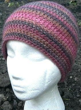 eae58624d2f CROCHET PATTERN Easy Beanie Hat cap double knitting dk PDF