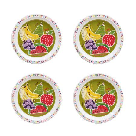 Mainstays Kids 4 Pack Melamine Plate Multiple Prints  sc 1 st  Pinterest & Mainstays Kids 4 Pack Melamine Plate Multiple Prints | Walmart and ...