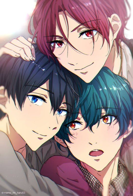 haru rin and ikuya gtgtgt beautiful boys ��� free free