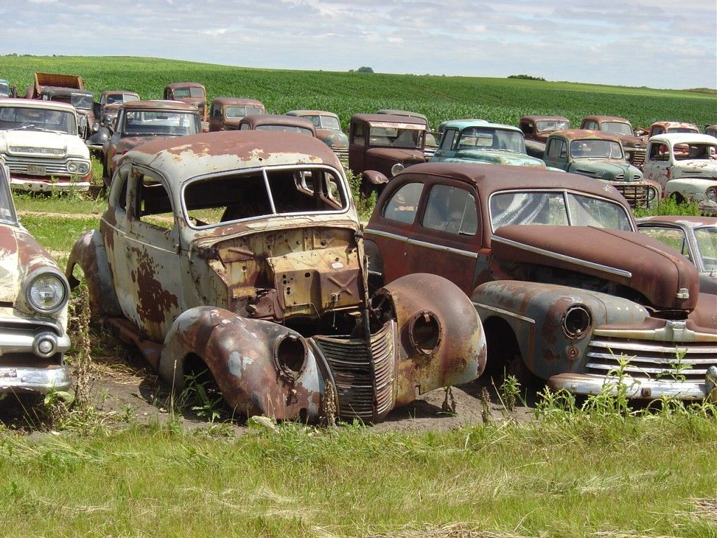 Rusted car lot | Old Junkyards | Pinterest | Rust, Cars and Ford